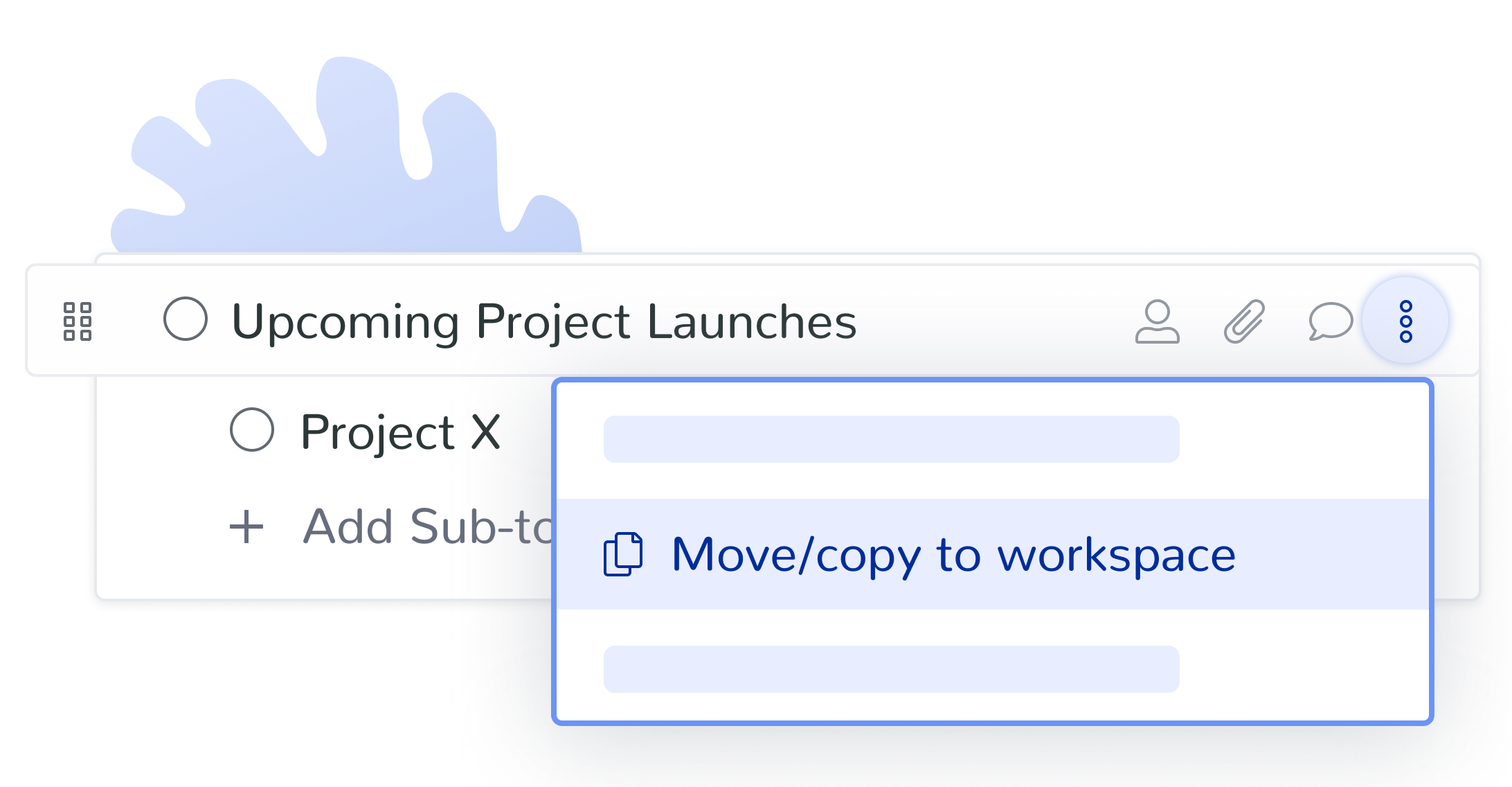 Create and move topics between workspaces asynchronously