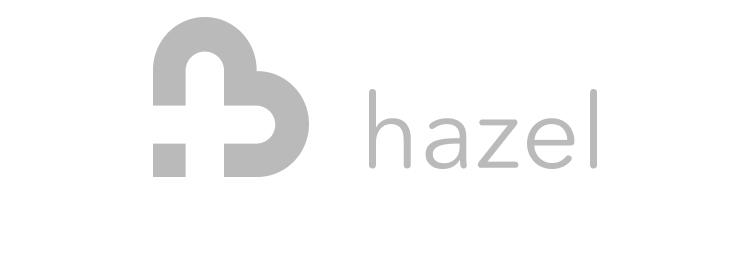 Company logo, hazel