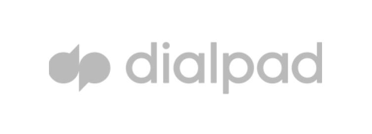 Company logo, dialpad