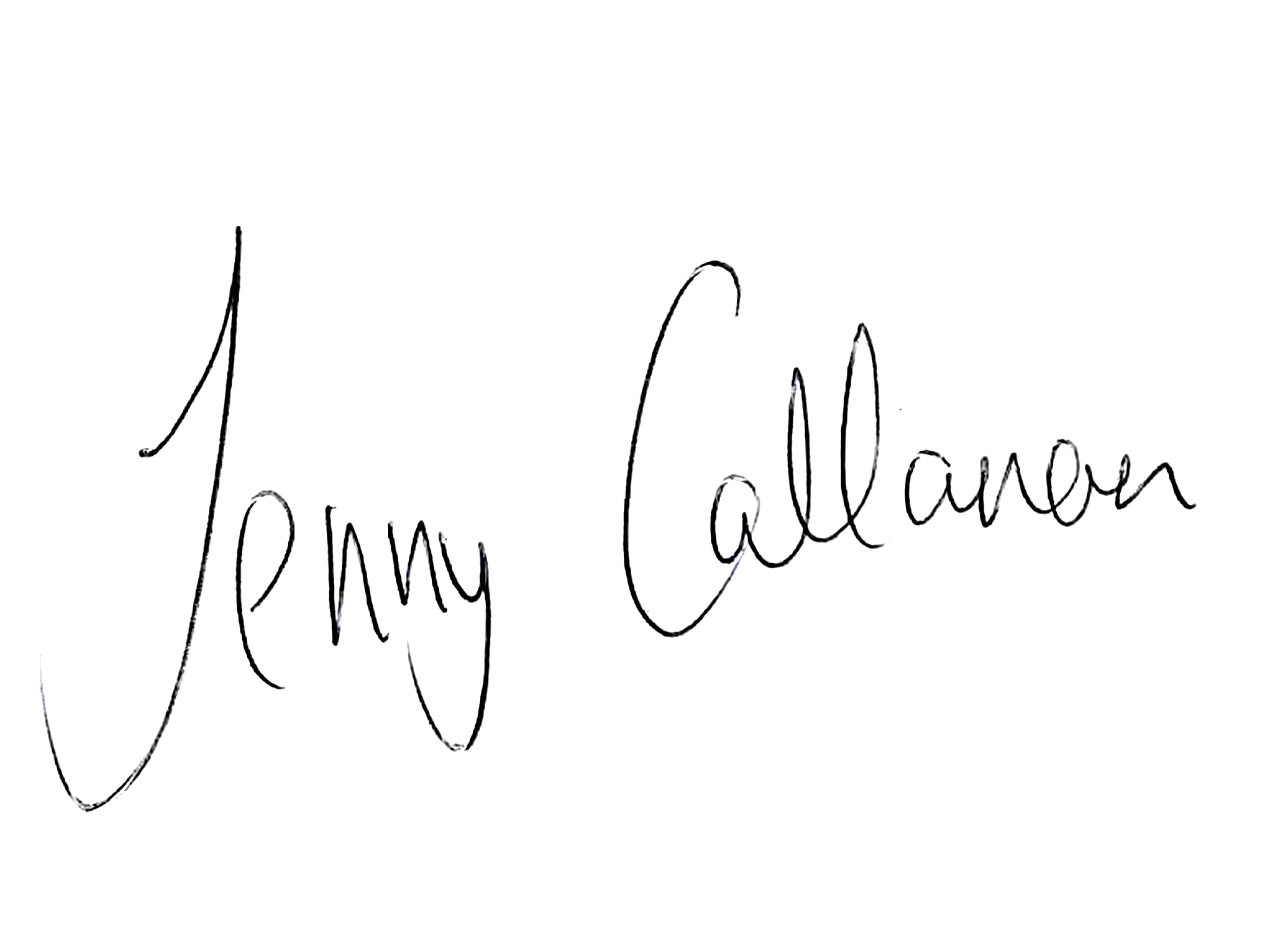 Jenny Callanan signature