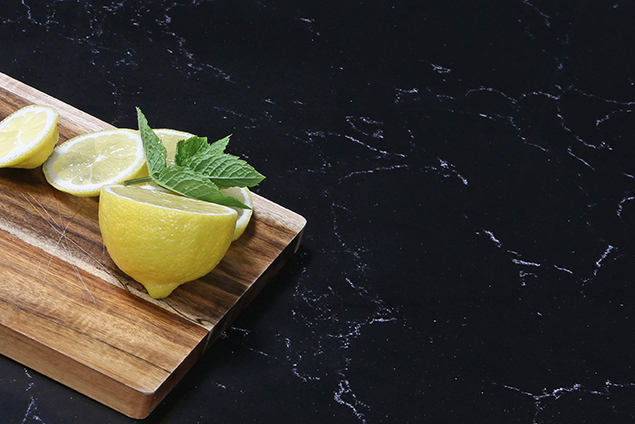 Product and Food Photography by Jenny Callanan Photography, lemon o a chopping board with worktop