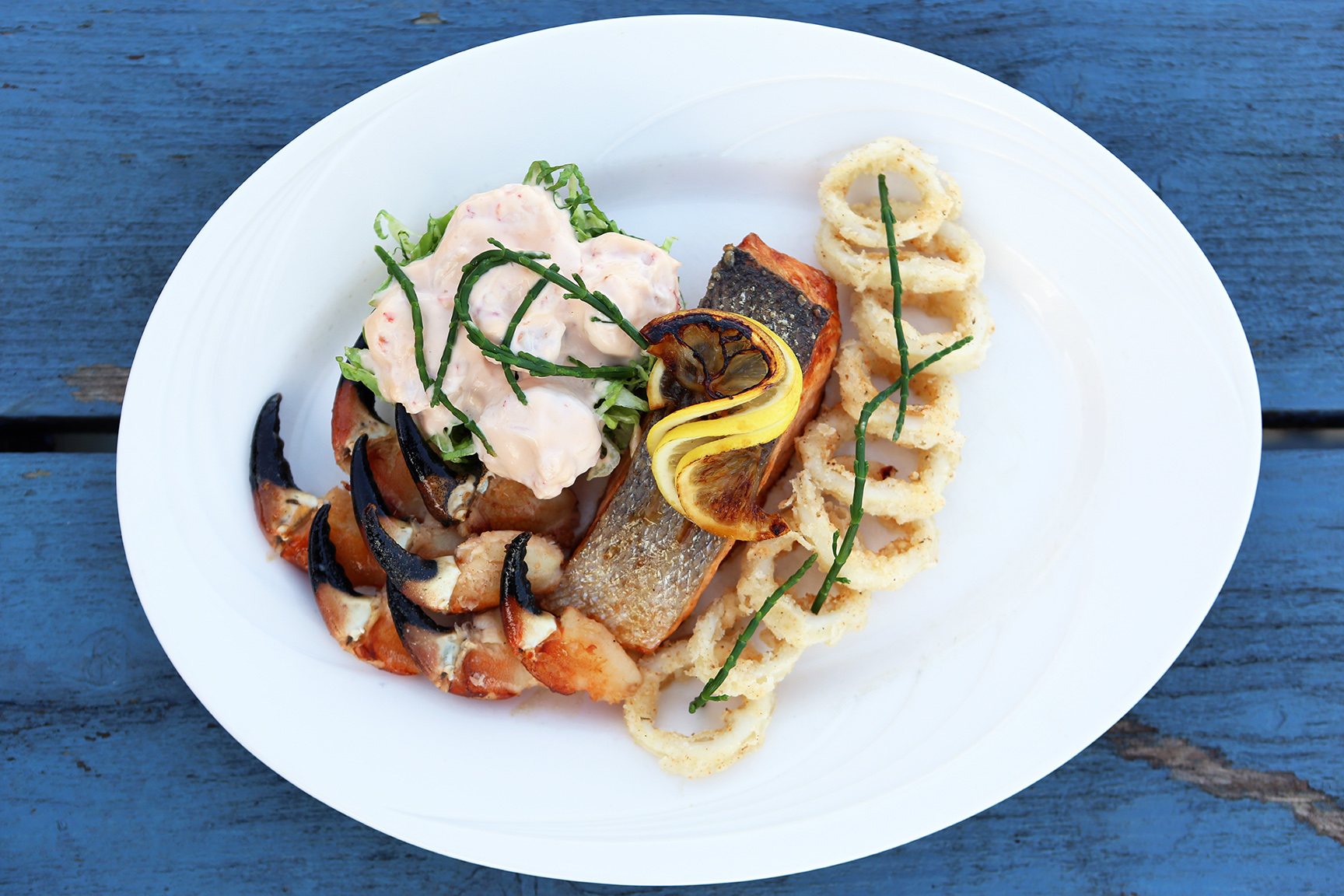 Product and Food Photography by Jenny Callanan Photography, seafood with a blue sky beside the sea, Glyde Inn Annagassan