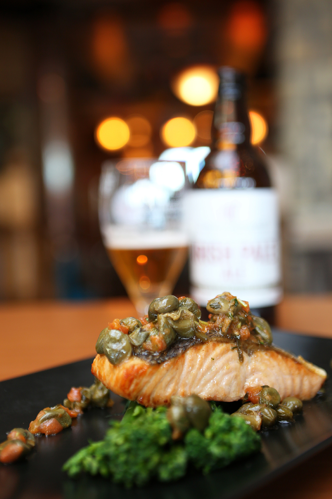Product and Food Photography by Jenny Callanan Photography, Salmon with beer, Glyde Inn Annagassan
