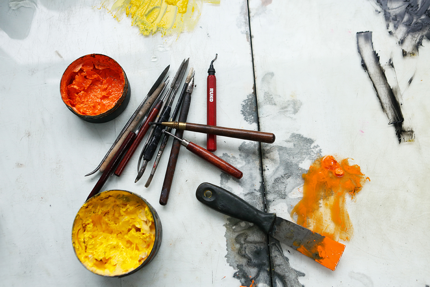 Product and Food Photography by Jenny Callanan Photography, paintbrushes and paint