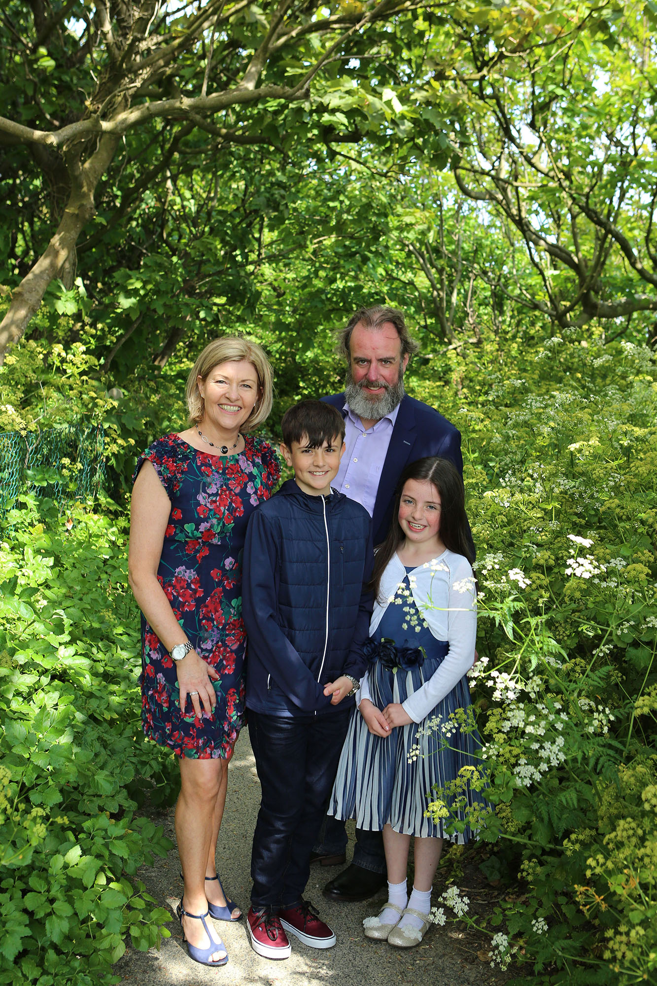 Communion boy with his family by Jenny Callanan Photography