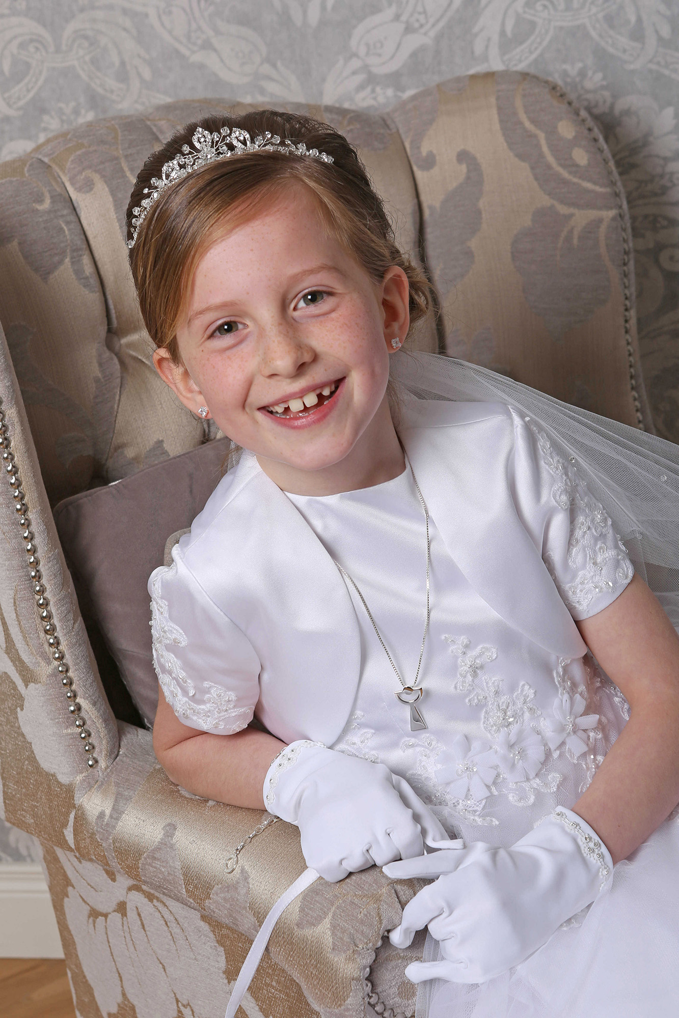 Communion girl by Jenny Callanan Photography