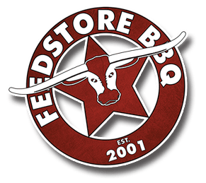 round feedstore bbq logo
