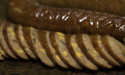 image of sliced sausage