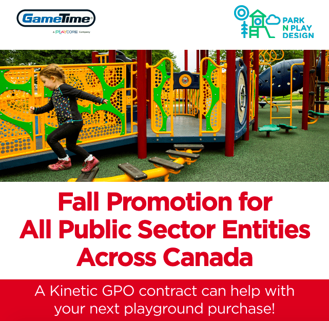 New Fall Promotion for Canadian Public Sector Entities: Helping Make Building Playgrounds in Canada Easier, Together