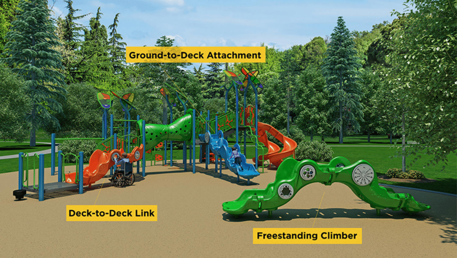 GameTime Sensory Wave Climber in three different configurations.