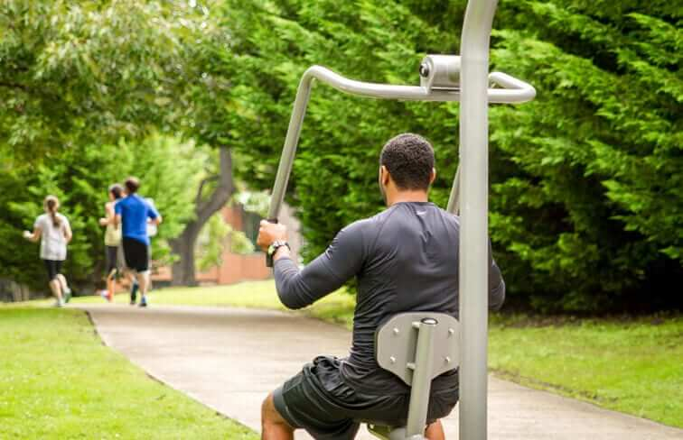 Fitness Sport Equipment in use by man