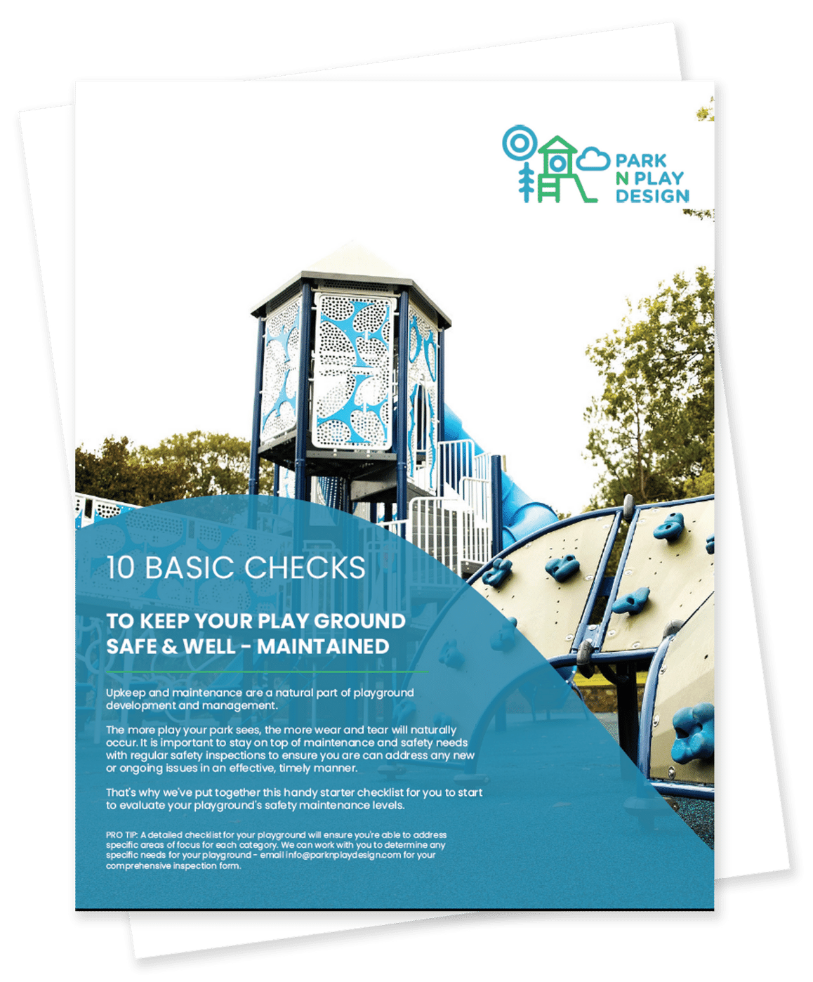 playground maintenance checklist front page
