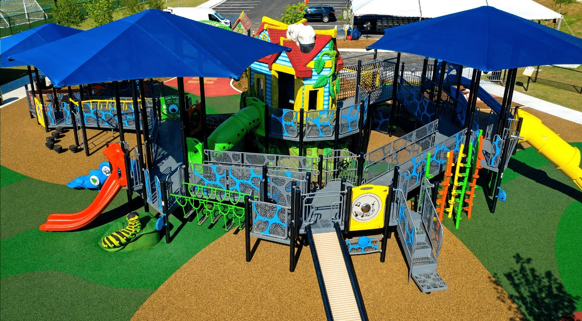 playground with colorful surfacing