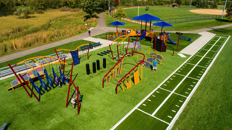 playground and challenge course combination