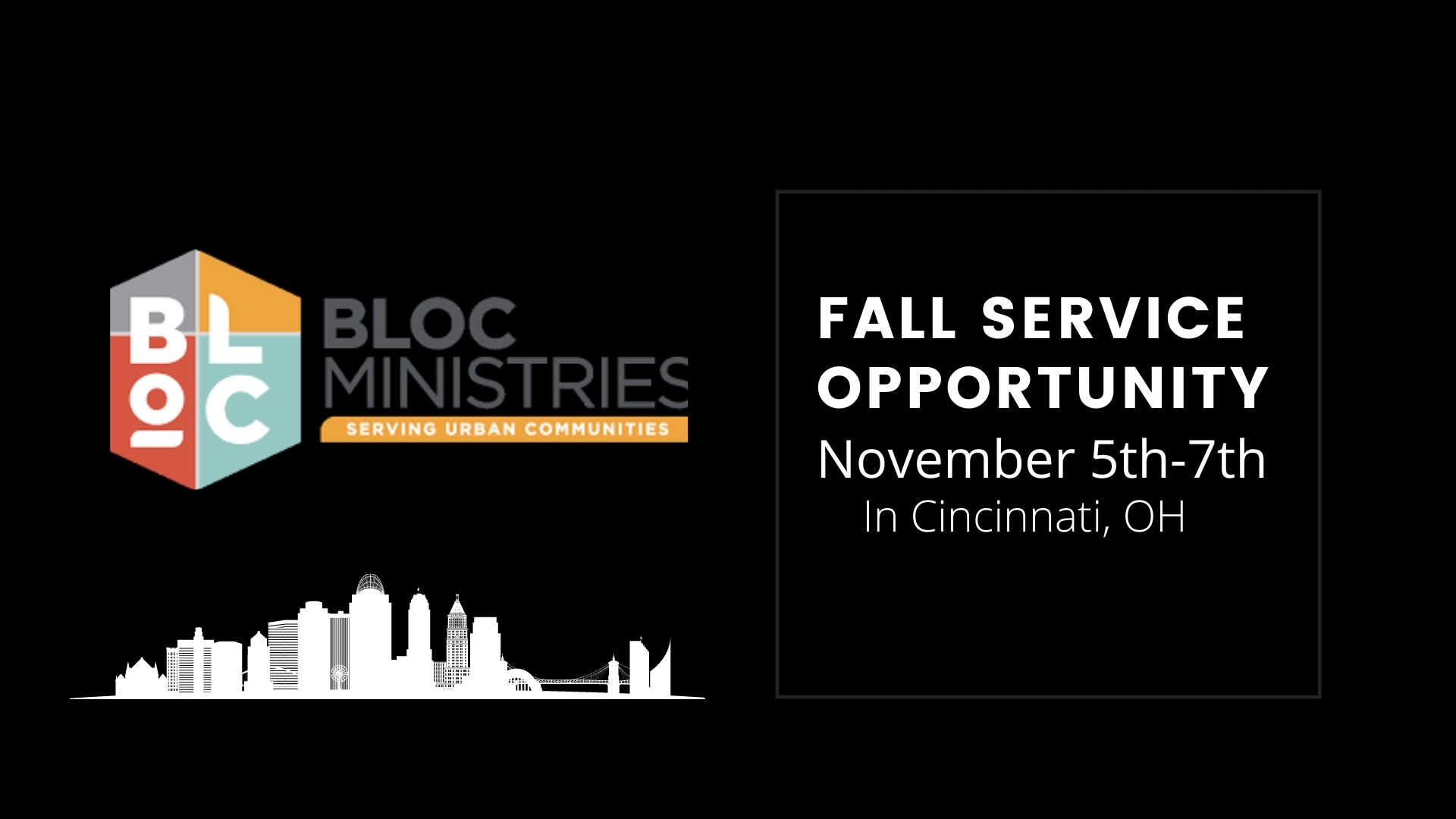 BLOC Ministries Fall Service Trip