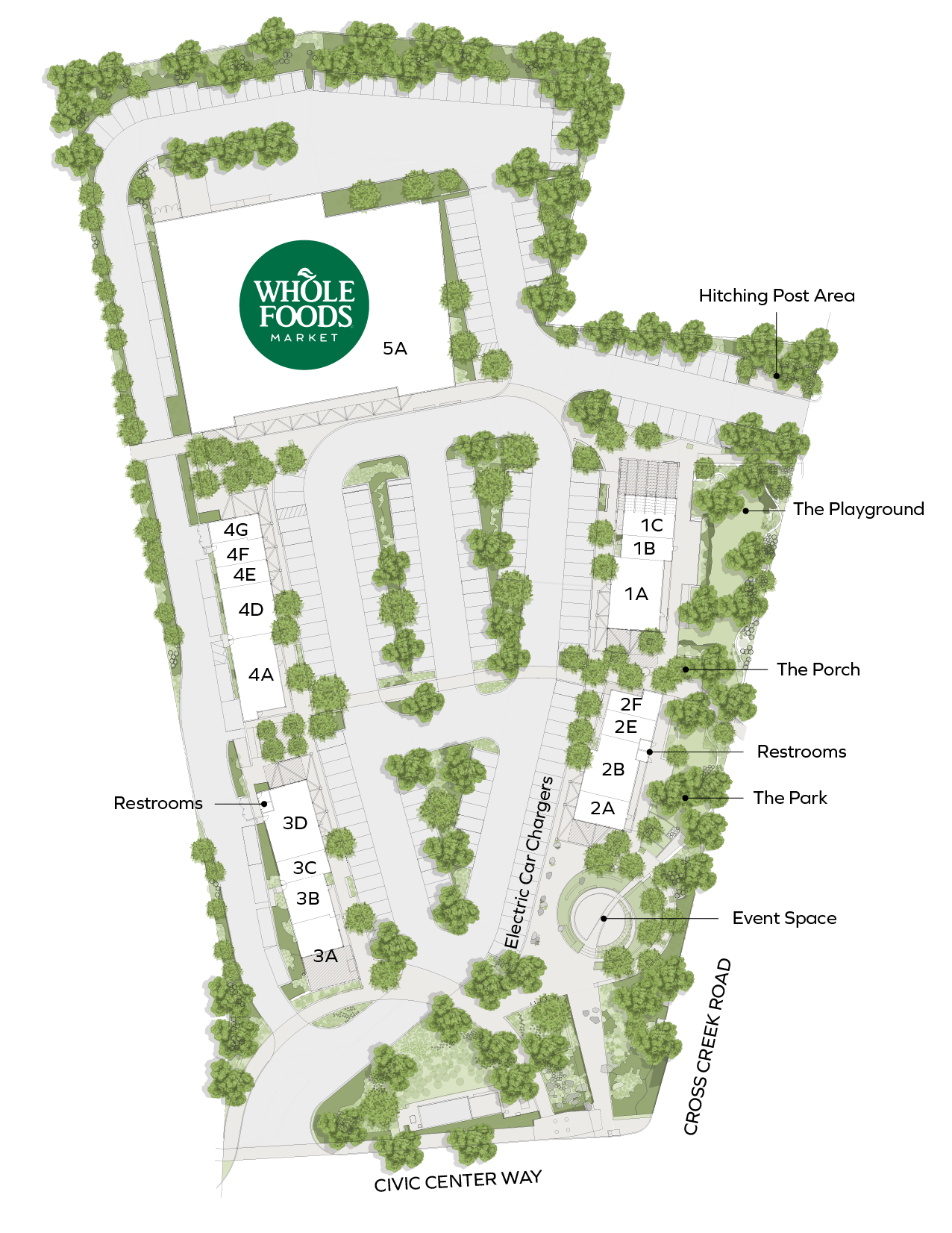 Map of the Park at Cross Creek