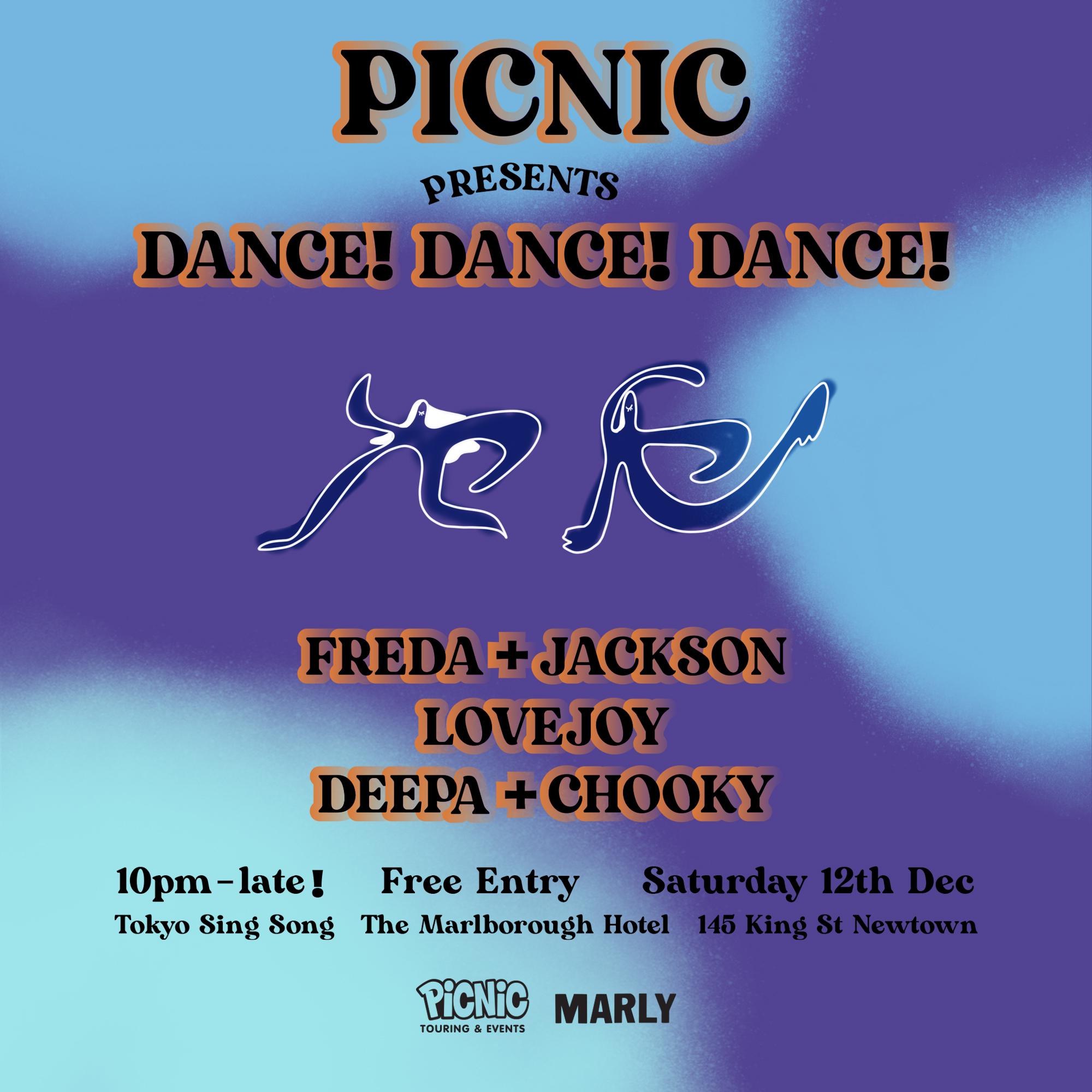 Dance! Dance! Dance! Freda + Jackon, Lovejoy & Deepa b2b Chooky