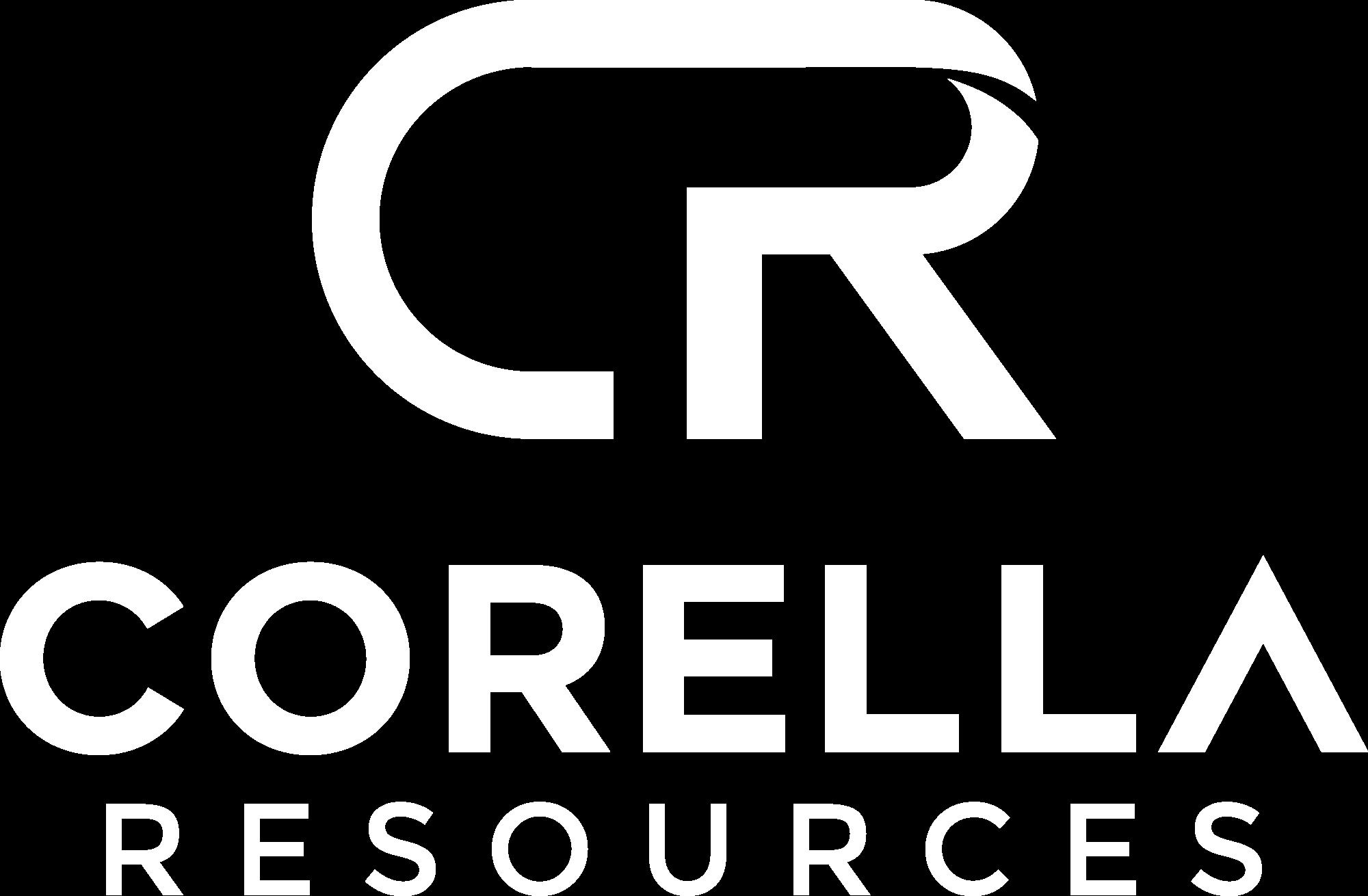 Corella Resources Logo White Portrait version