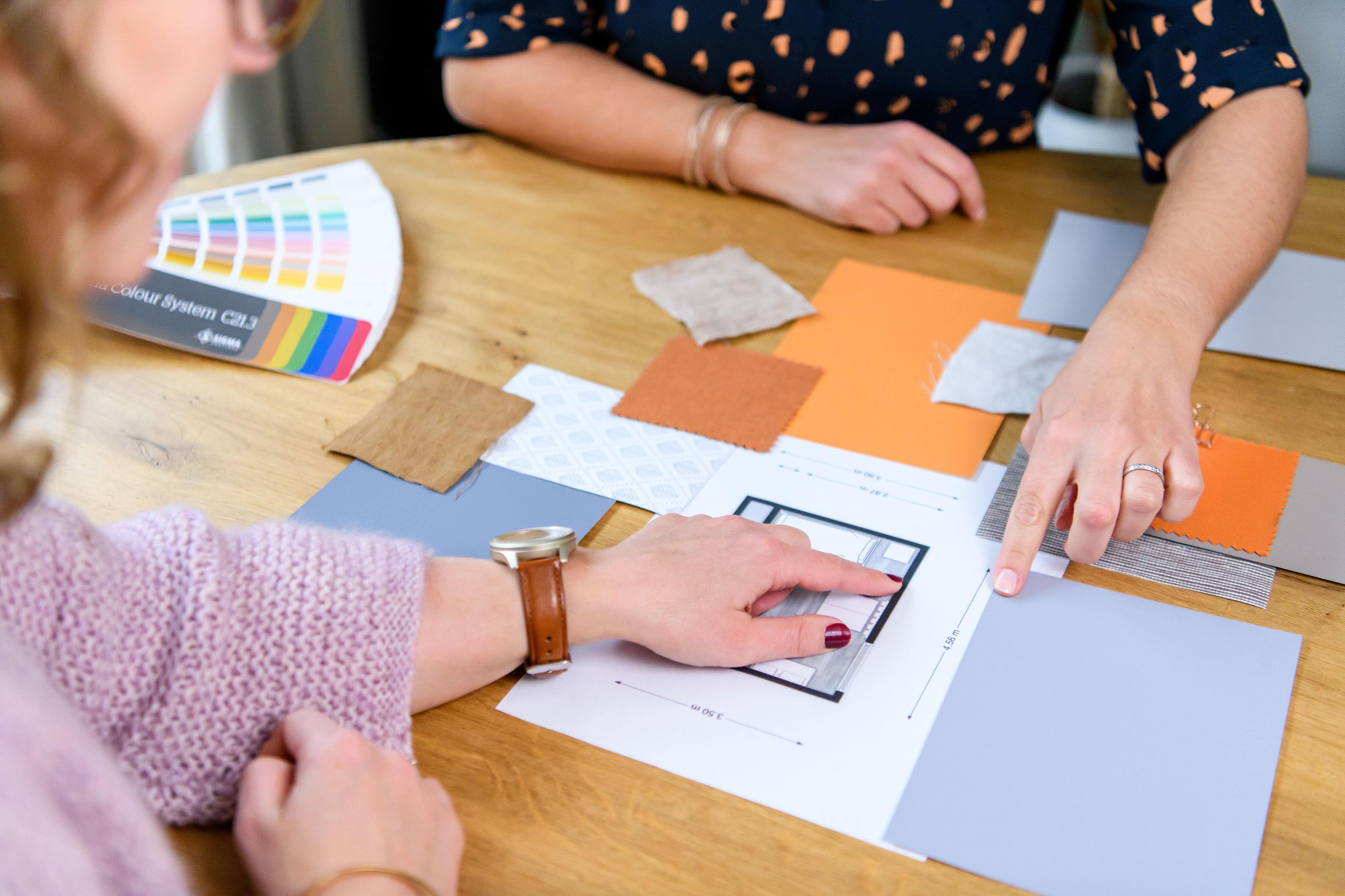 kleuradvies voor ontwerp interieurplan thuis