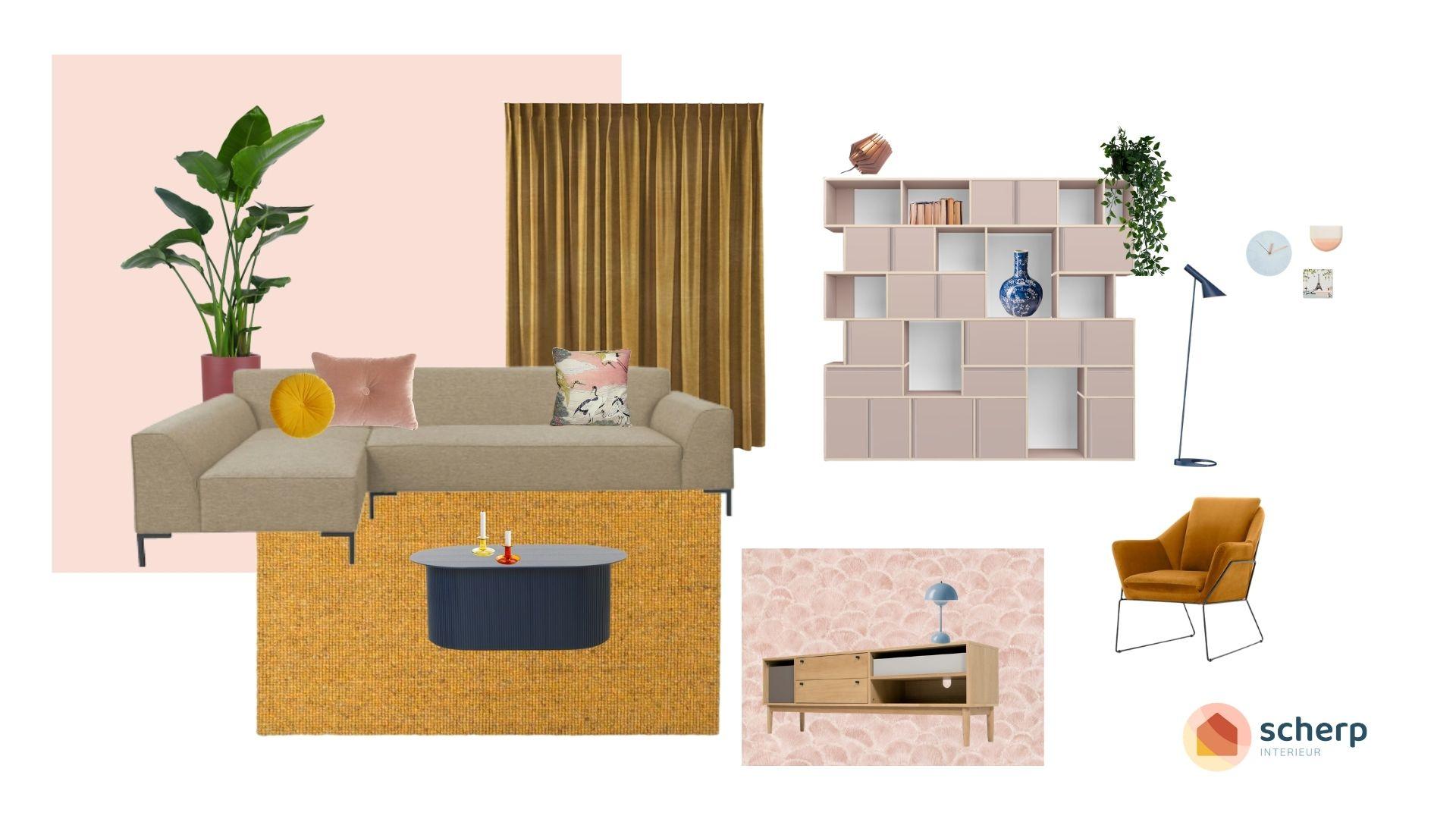 stylen van een woonkamer door een interieurstylist in rotterdam