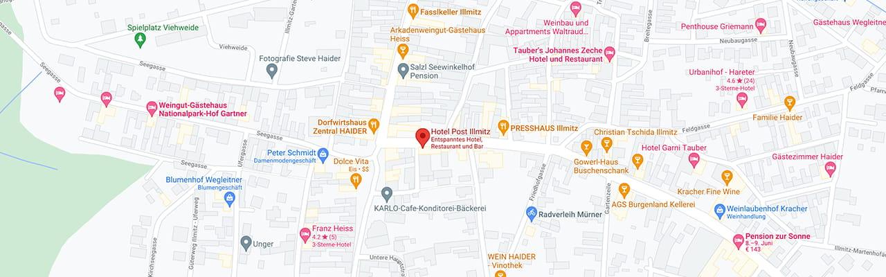Hotel Post Illmitz auf Google Maps