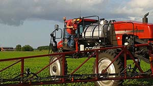 Mounting a GoPro camera on an agricultural sprayer in Pantego, NC