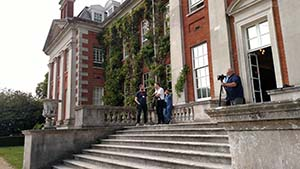 The front entrance steps to Hursley House.