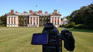 A view from the front yard of Hursley House.