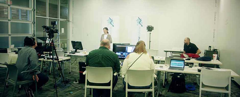 A live webcast being produced in Atlanta, Georgia.