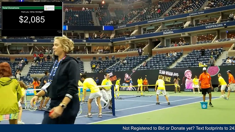 A shot of the US Open tennis tournament in New York City.