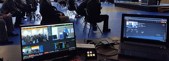 Our live webcasting setup during their graduation exercise.