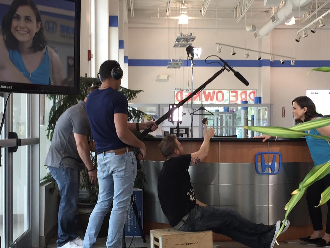 On location dealer shoot