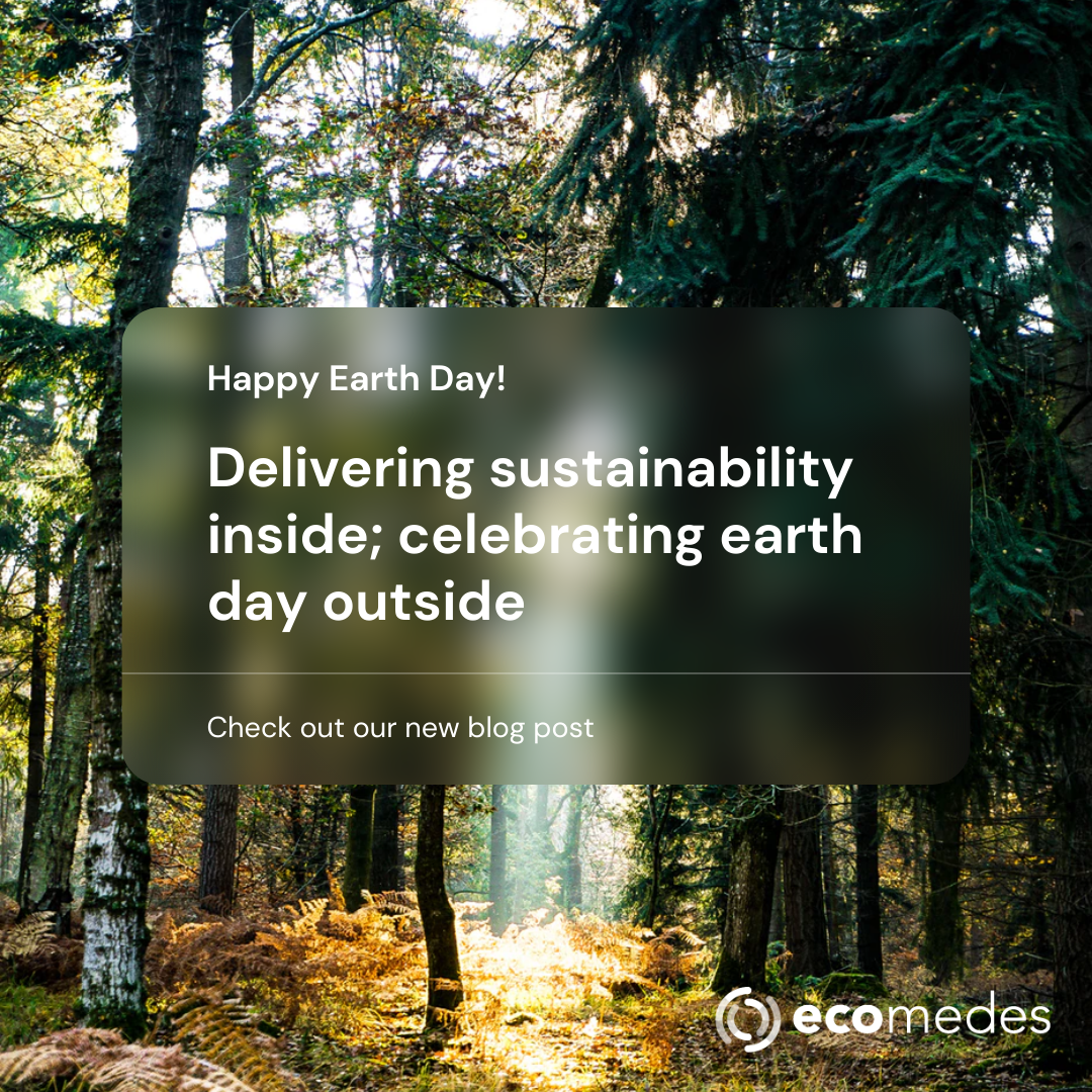 Delivering sustainability inside; celebrating earth day outside