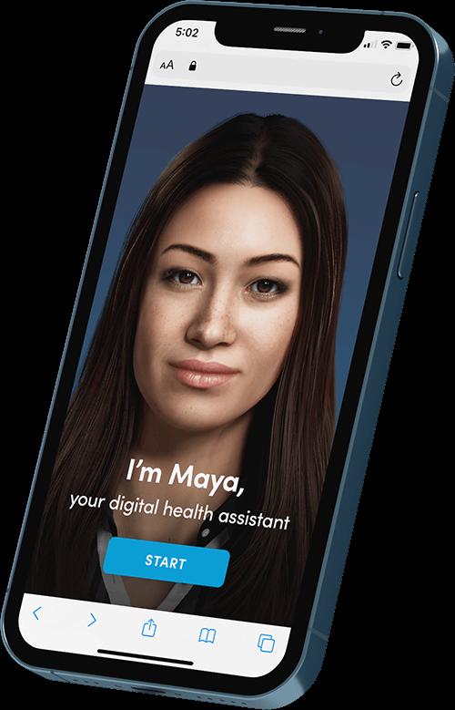 MayaMD digital AI health assistant symptom checker