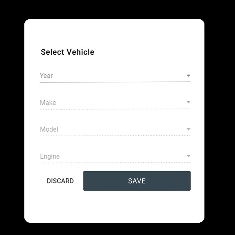 Auto Parts Vehicle Selector Year Make Model