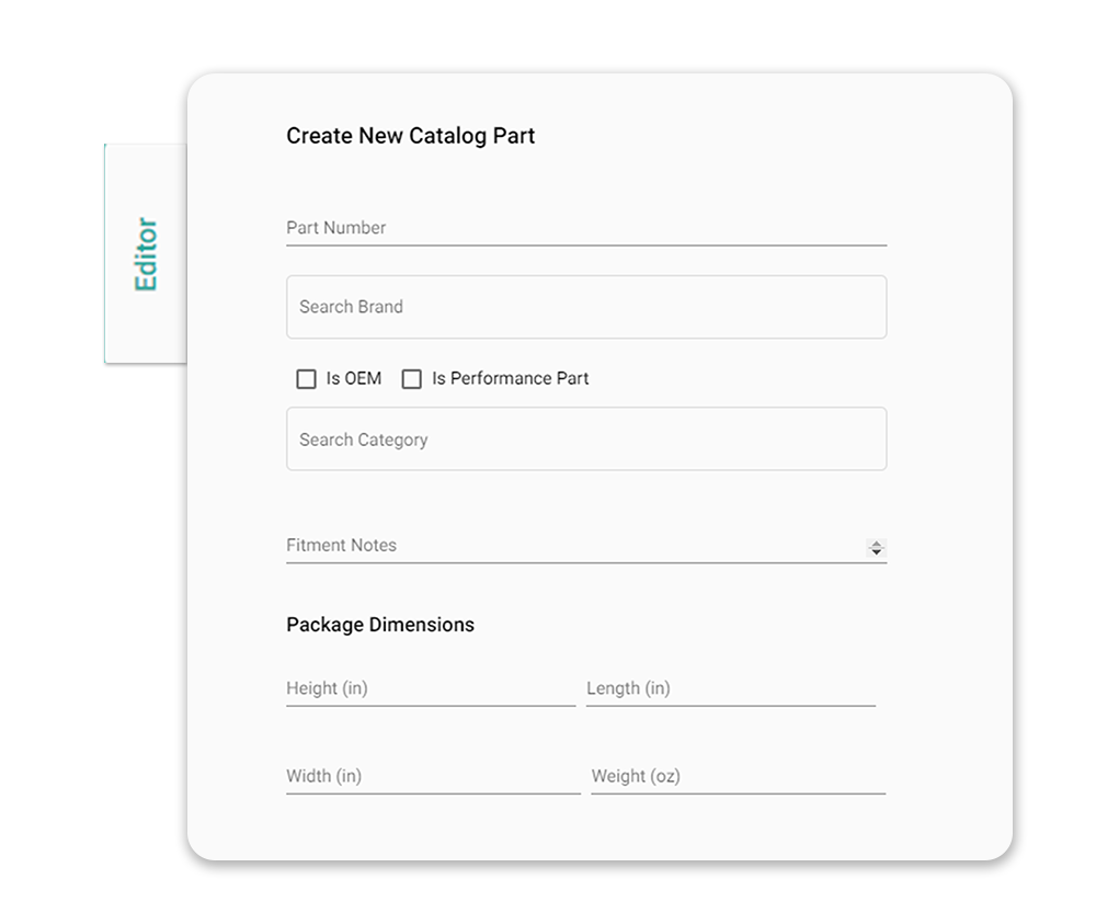Manage and distribute your parts catalog