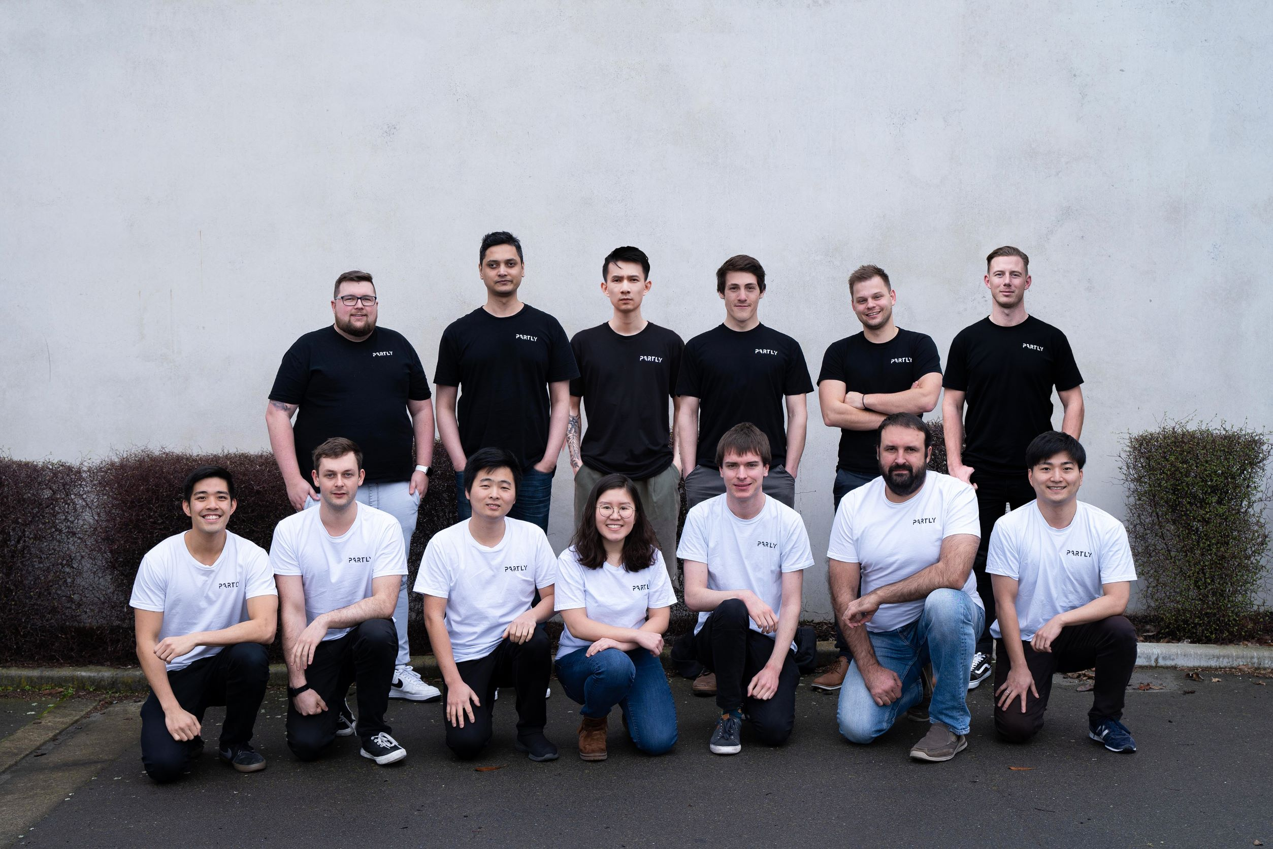 Partly startup team photo July 2021