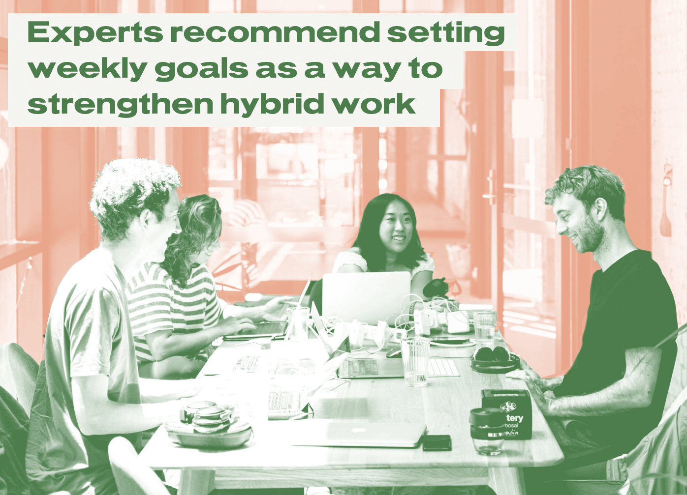 Experts recommend setting weekly goals as a way to strengthen hybrid work.