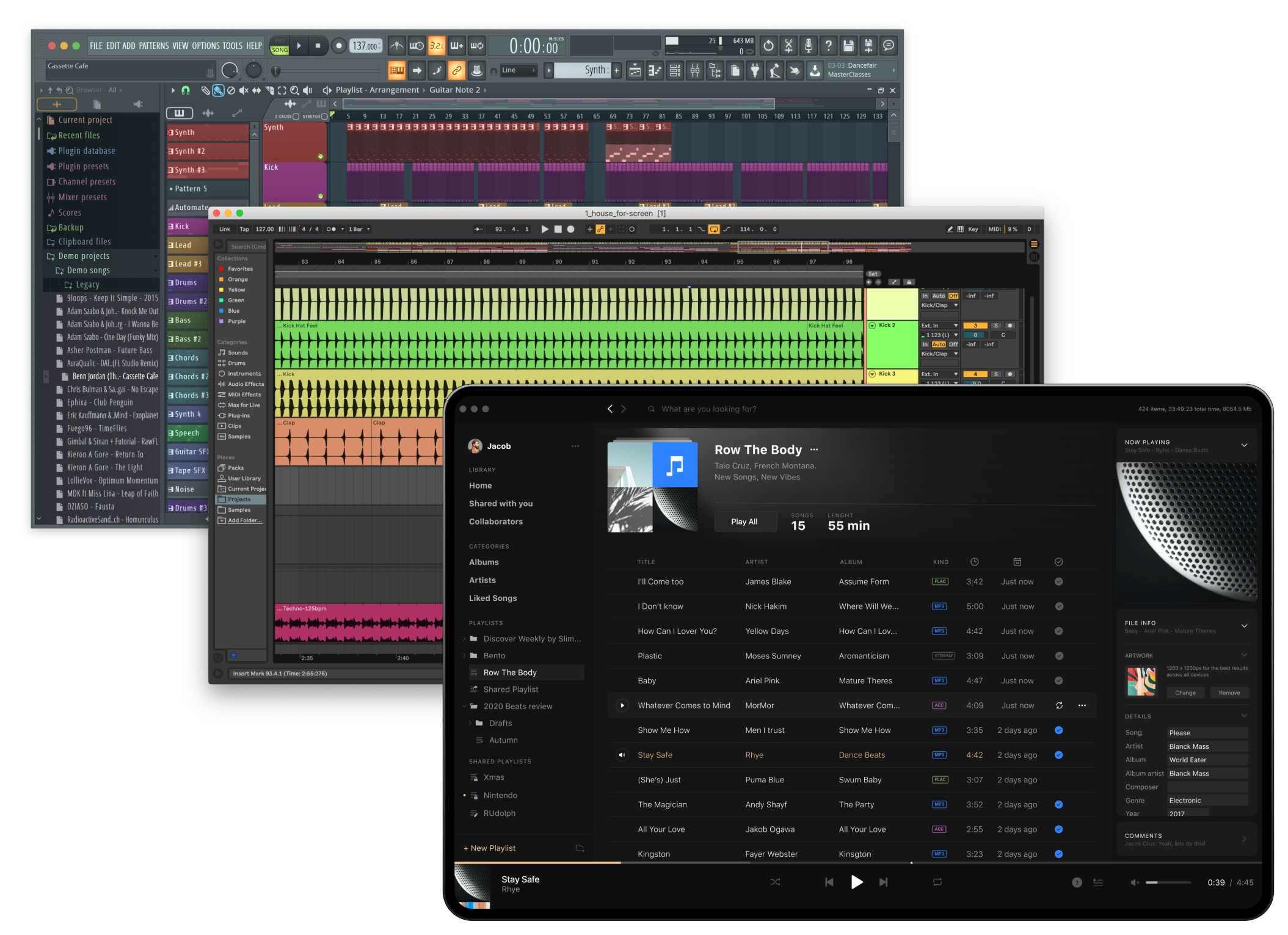 Drag and drop between Vollume Control and DAW's