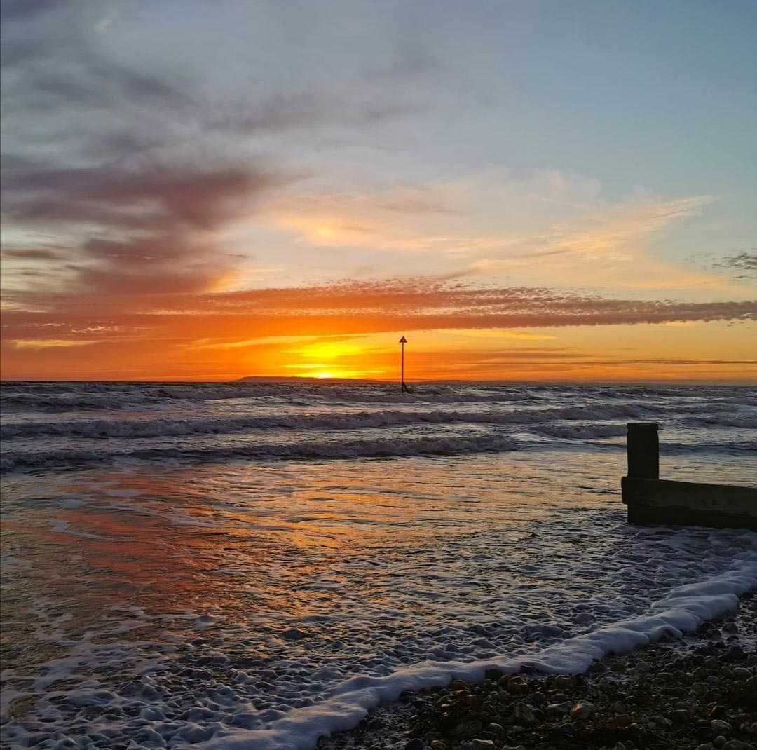 sunset at east wittering