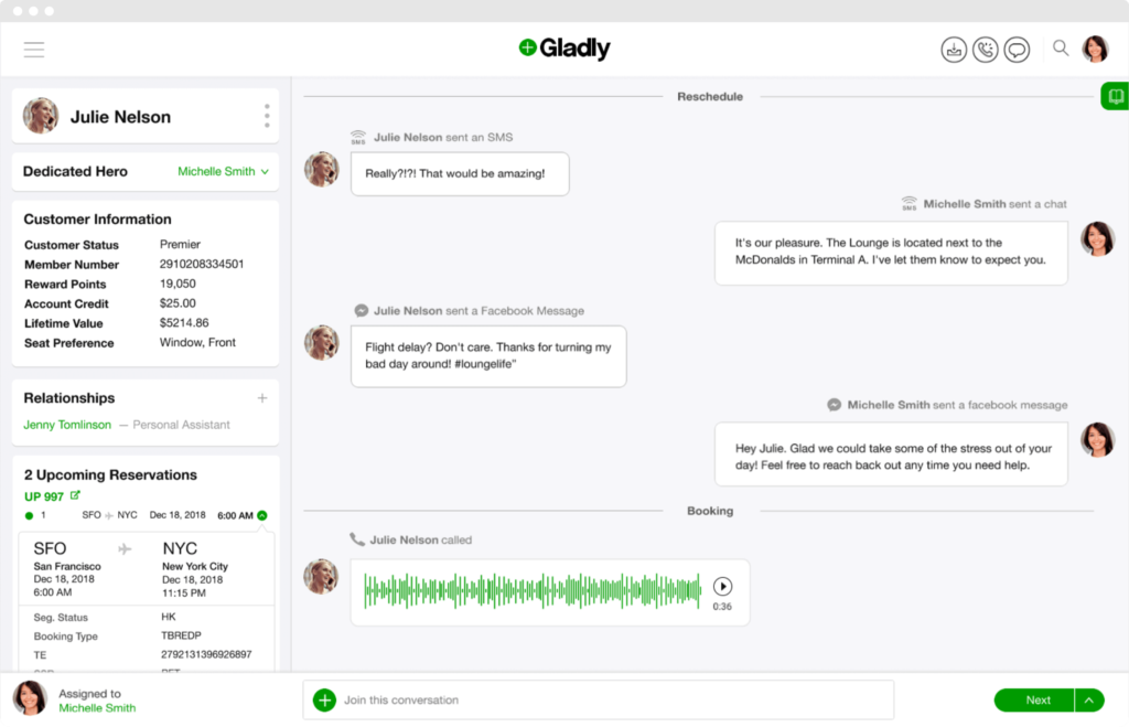 Customer communication platform Gladly