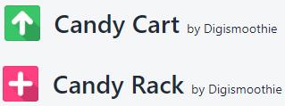 Candy Rack vs. Candy Cart Logos