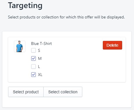 Upsell Targeting per Product Variant
