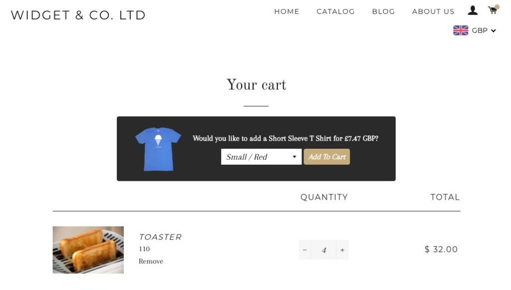 In Cart Upsell (pop-up free upsells in the cart)