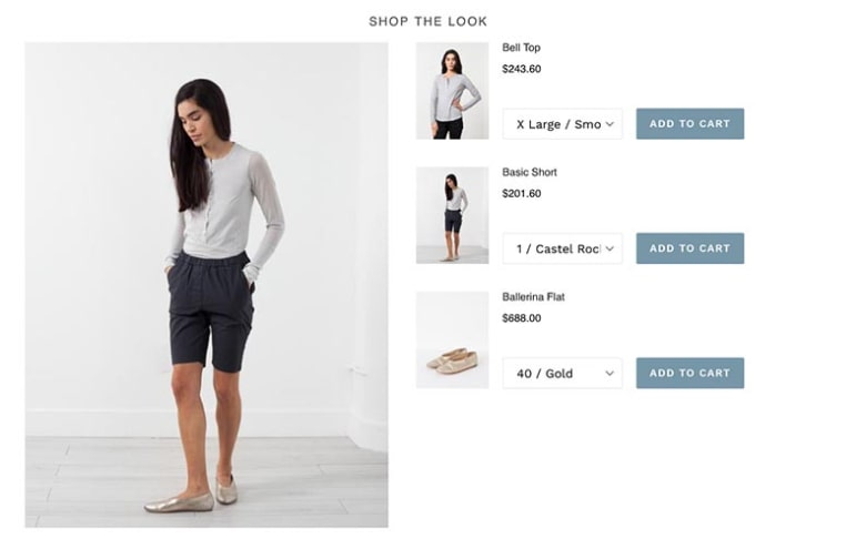 Shop the Look App allows your customers to purchase multiple products