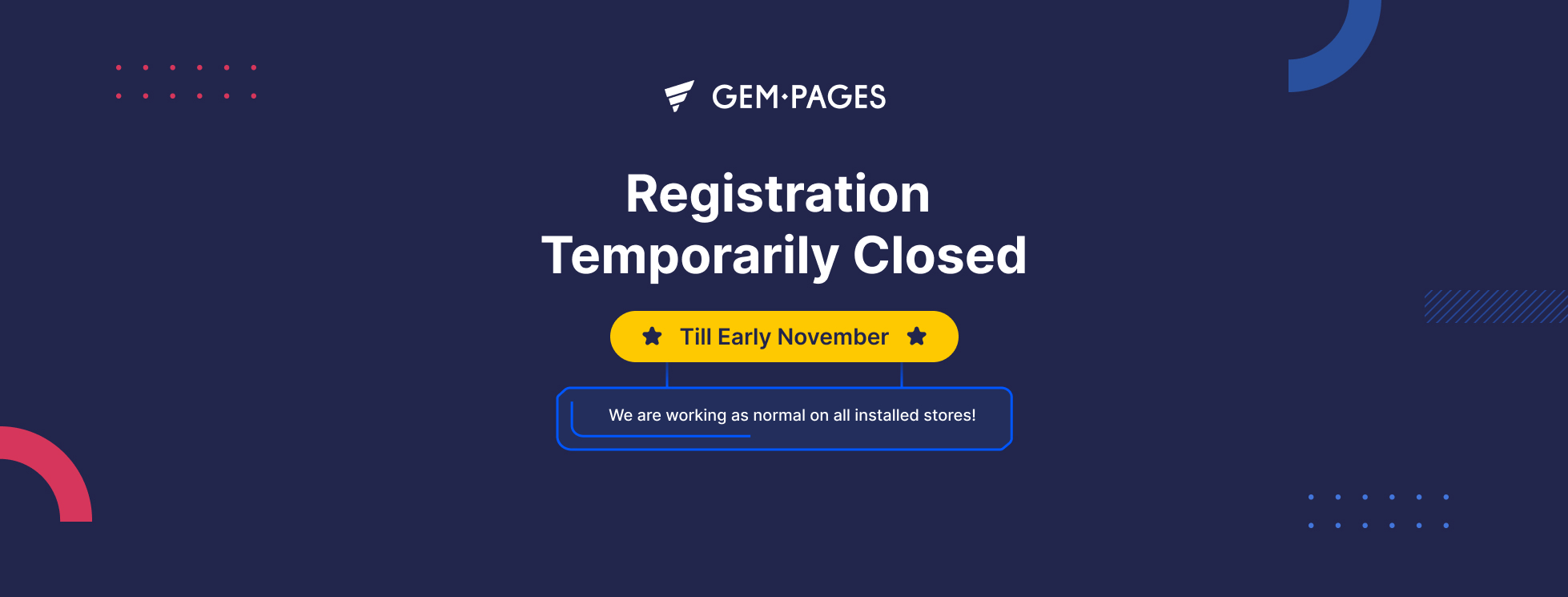 GemPages Has Been Delisted From the Shopify App Store
