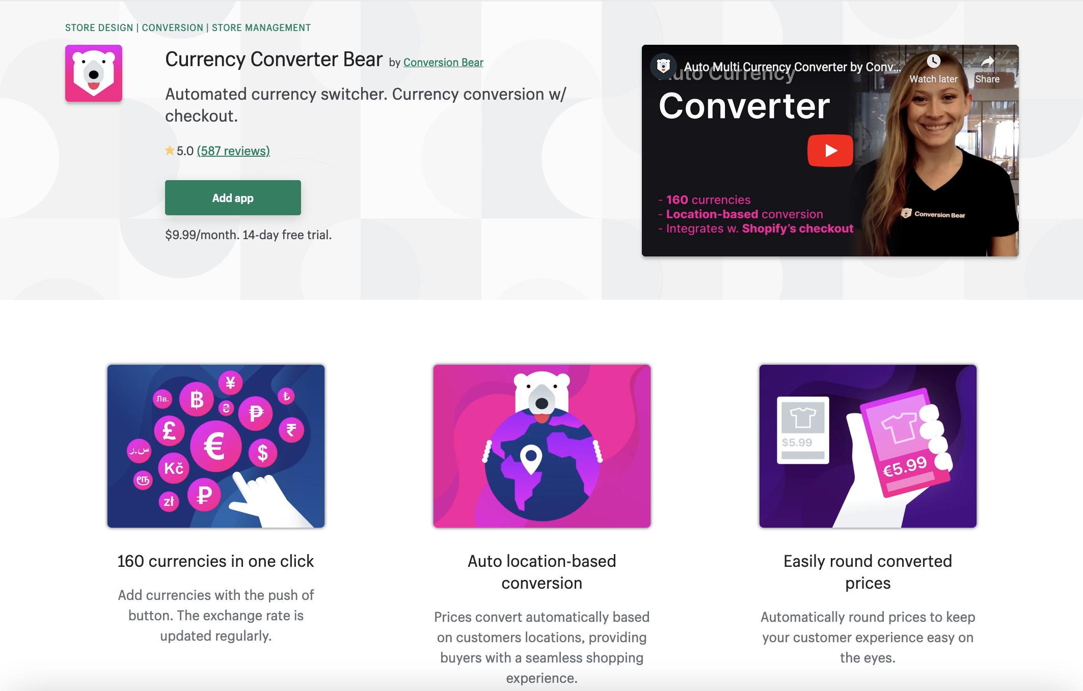 Currency Converter Bear by Conversion Bear