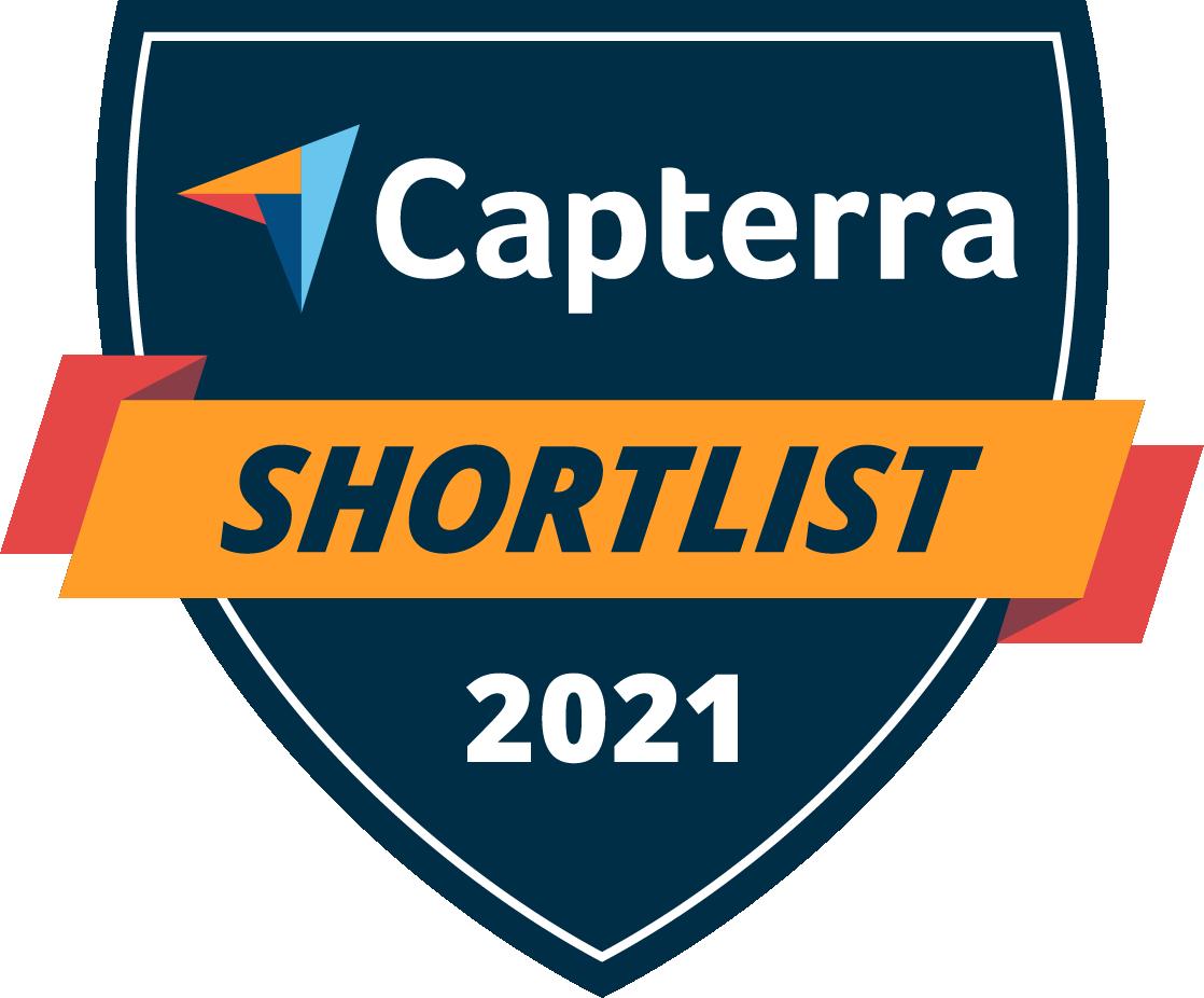 Capterra Shortlist 2021 Badge.
