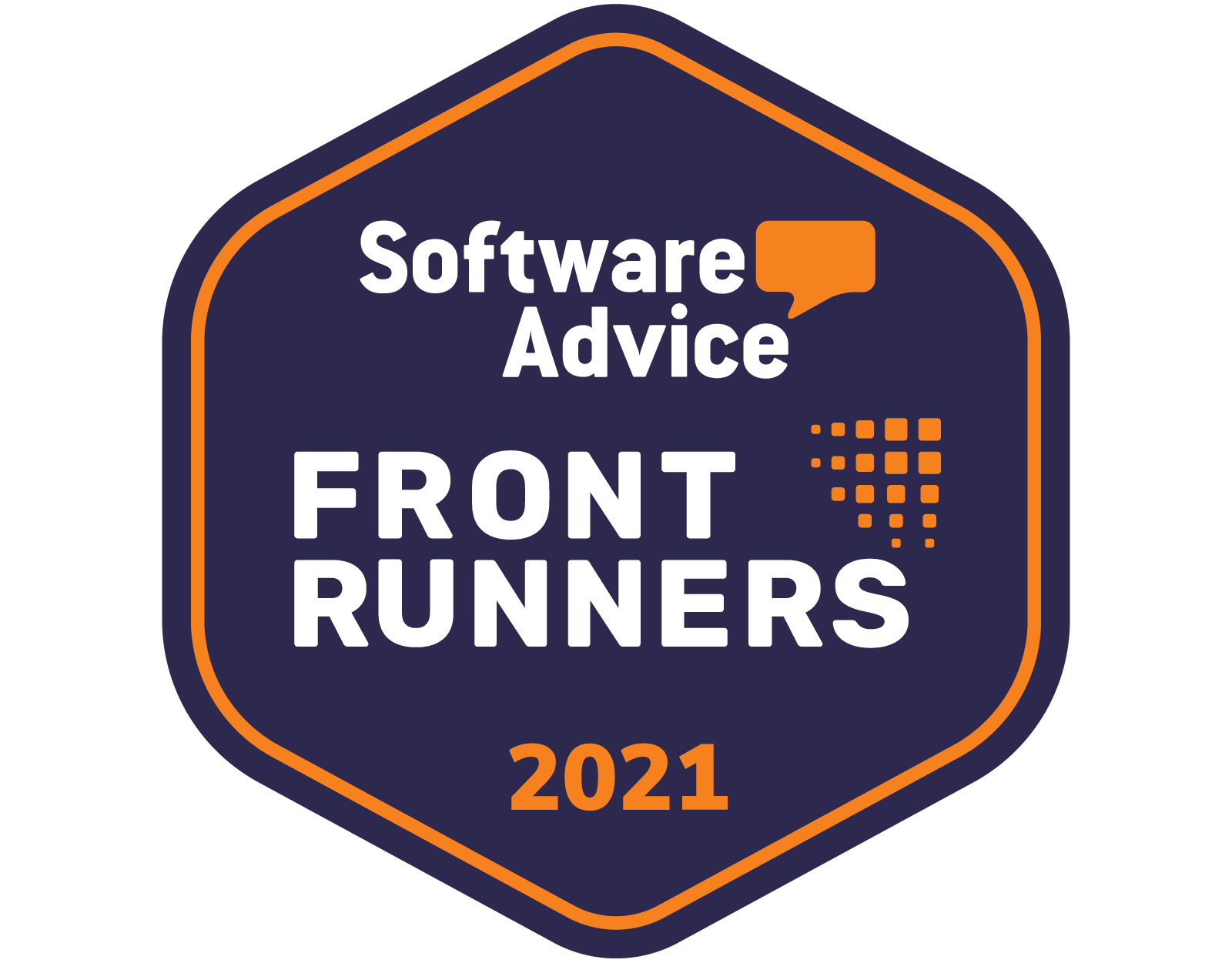 Software Advice Front Runners 2021 Badge.