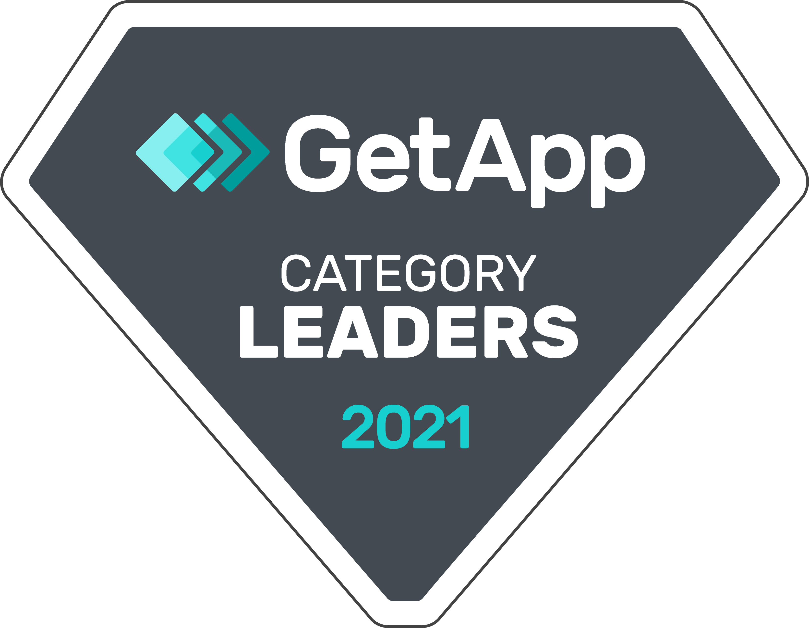 GetApp Category Leader 2021 Badge.